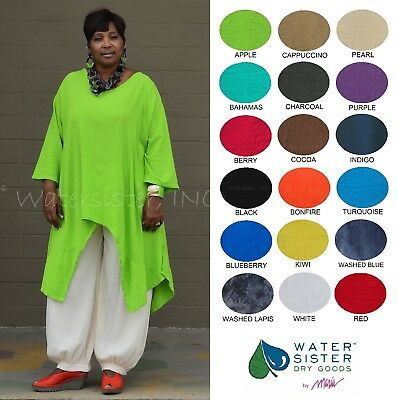 WATERSISTER Cotton Gauze  SUNNY Long Tails Tunic Top OS (L-2X/3X)  2019 COLORS