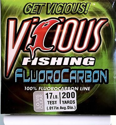 Vicious Clear 17 Lb Test Fluorocarbon Fishing Line