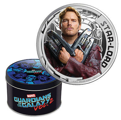 2017 Cook Islands Marvel Guardians Galaxy Star Lord Silver Proof OGP SKU46087