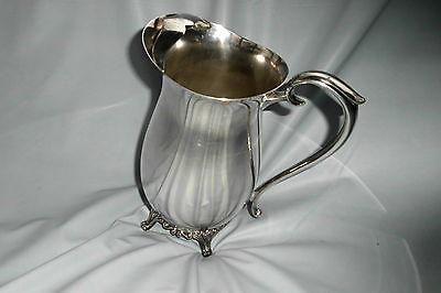 F.B. Rogers Silver Plate Footed Water Pitcher