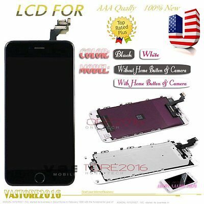 """For iPhone 6 Plus 5.5"""" LCD Display Touch Screen Digitizer +Home Button+Camera US"""