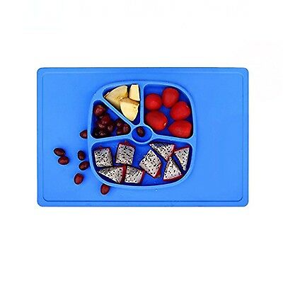 LAIMALA One-piece Silicone Placemat Food Tray for Baby Toddlers Non-slip with...