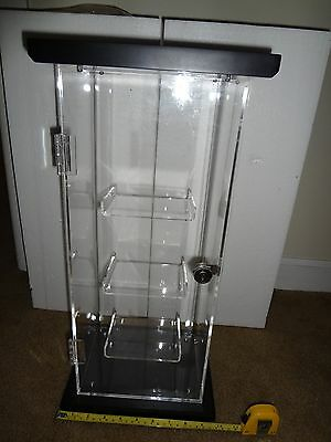 Countertop Jewelry / Collectable Showcase Stand Display 3 Tier Acrylic + Lock