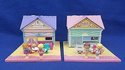 Polly pocket Beach Cafe Pollyville & Polly's Cafe Holiday Variation 100%complete