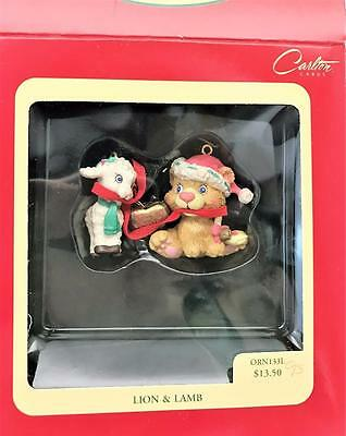 "Carlton Cards Heirloom Collection ""Lion & Lamb"" Peace on Earth Ornament"