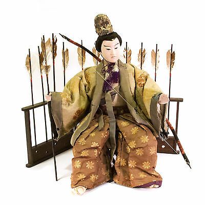 19th C. Meiji Period Japanese Musha Ningyo Warrior Doll