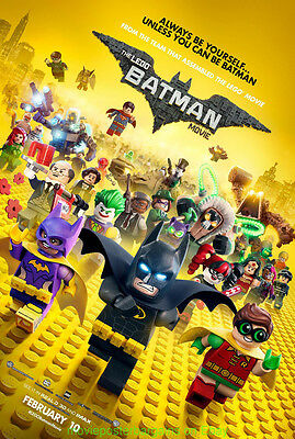 THE LEGO BATMAN MOVIE POSTER Original MINT DS 27x40 2nd Advance Style 2017