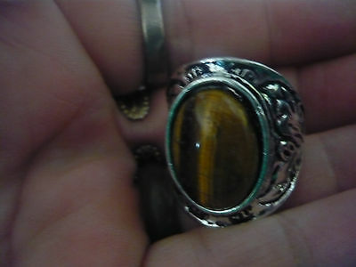Paranormal Collection Power Djinn Inspired Ring Size 8 Tiger Eyed