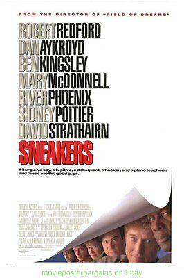 SNEAKERS MOVIE POSTER Original SS 27x40 ROBERT REDFORD SIDNEY POITIER 1992