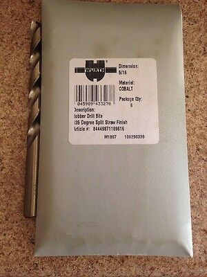 5/16 COBALT Jobber Drill Bits Made In USA