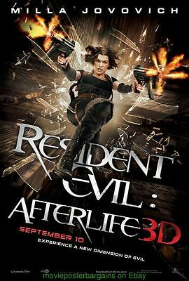 RESIDENT EVIL : AFTERLIFE MOVIE POSTER DS 27x40 Advance Style MILLA JOVOVICH