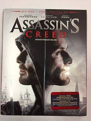 Assassin's Creed (Blu-ray + DVD + Digital HD; 2017) **BRAND NEW FACTORY SEALED**