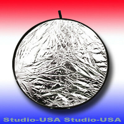 """33"""" ROUND COLLAPSIBLE 2 in 1 DISC PHOTO REFLECTOR PANEL WITH CARRY POUCH"""