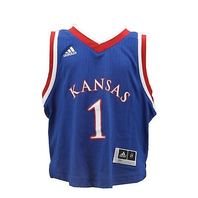 half off c65e0 3612e KANSAS JAYHAWKS INFANT Toddler Size Official Adidas NCAA Basketball Jersey  New