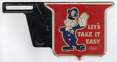 Ford License Topper With Policeman