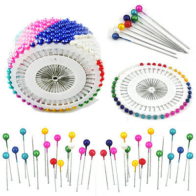 480pcs Multi Colour Round-Head Faux Pearl Decorating Pin Dressmaking Pin AU