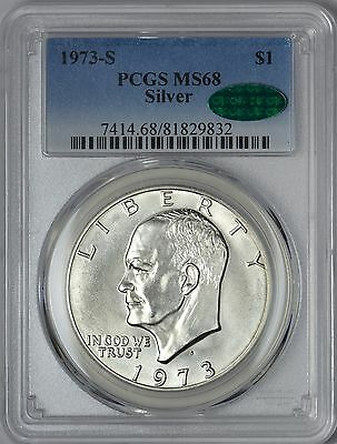 1973-S Silver Eisenhower Dollar PCGS MS68 - CAC Approved!