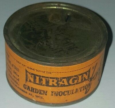 Antique Vintage Advertising Tin Garden Product NITRAGIN 1950's
