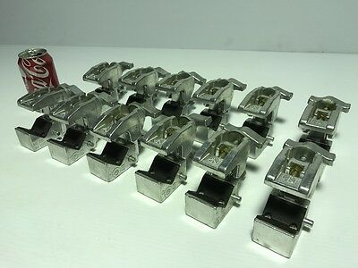 Lot of 12 (12) pre owned Manfrotto Art. 035 Super Clamps Polished aluminum