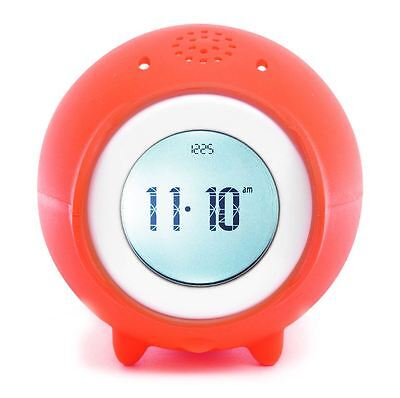New Suck Uk Tocky Red Alarm Clock Rolling Mp3 Music Time Snoozes Digital Display