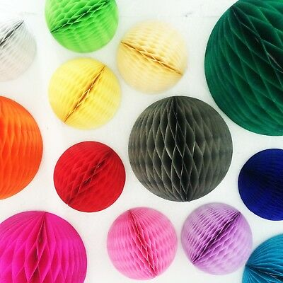 Honeycomb ball decorations tissue paper pompoms wedding decoration party supply