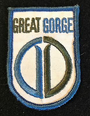 GREAT GORGE aka MOUNTAIN CREEK Skiing Patch NEW JERSEY NJ LOST NAME 1965-71 NOS