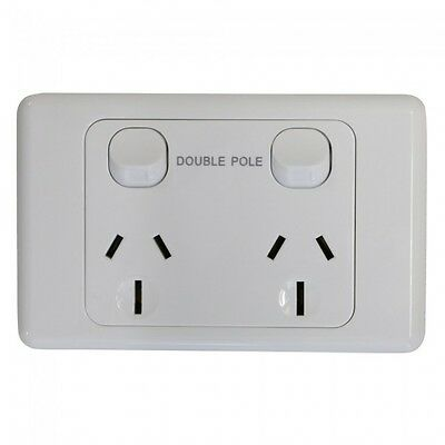 Double 15Amp Powerpoint / GPO Outlet - DOUBLE POLE