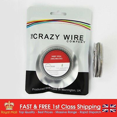 20 AWG Flapton (1.03 x 0.5mm) - Ni80 Wire - 5 Metre Spool - 1.29 ohms/m