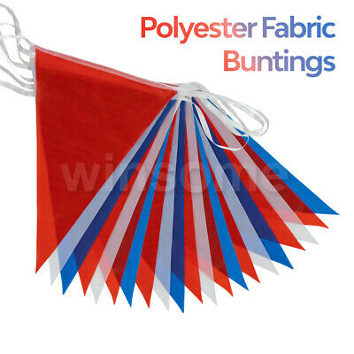 Material Polyester Red White Blue 33 Feet, 20 Flags Pennant Banner Party Bunting