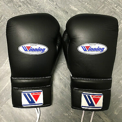 WINNING MS-500 14oz BLACK - Professional Sparring/Training Gloves - Grants Reyes
