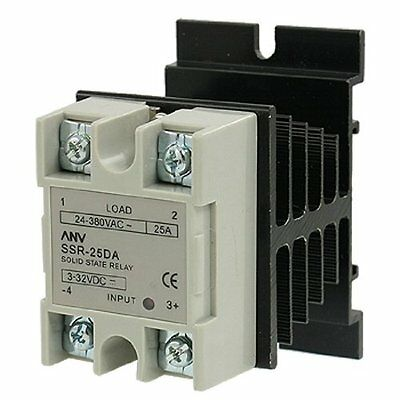 uxcell Solid State Relays SSR-25 DA 25A 3-32V DC 24-380V AC Solid State Relay