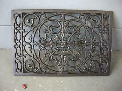 ORNATE CAST IRON AIR VENT AIR BRICK GRILLE - COVER - repair