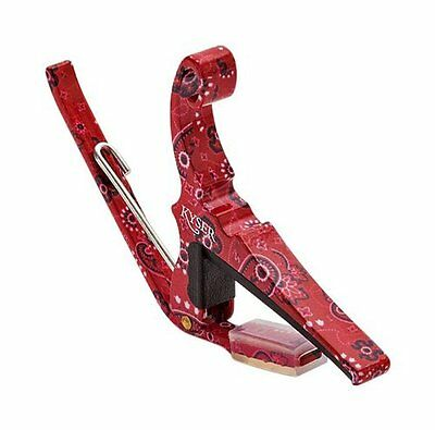 Kyser KG6RB QUICK CHANGE CAPO 6 STRING GUITAR RED BANDANA FINISH