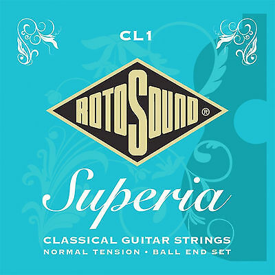 Rotosound Cl1 Ball End Clear Nylon Trebles Classical Guitar Strings 2 Pack