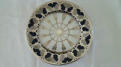 """Vintage Rosenthal 11"""" Plate With Silver Overlay 1928"""