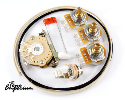 Wiring kit with Oak Grigsby 5 way CTS for Strat / Stratocaster Guitar