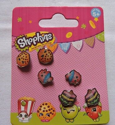 Shopkins New Kooky Cookie Cupcake Chic Le'Quorice Earring Set
