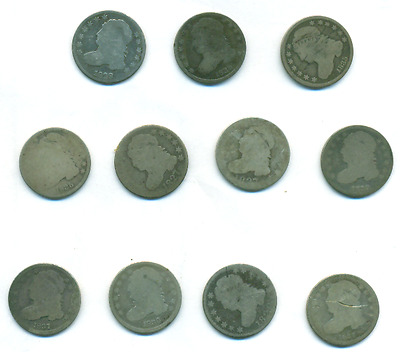 Eleven Bust Dimes