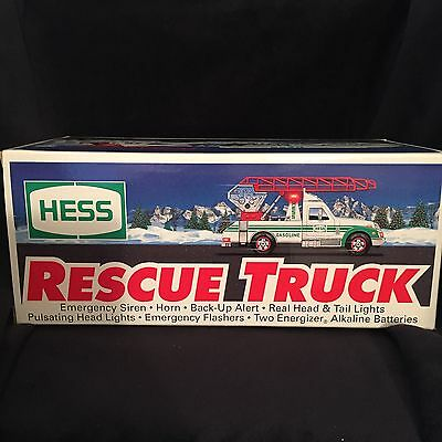 NEW 1994 Hess Rescue Truck in unopened box  Mint