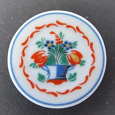 Dolls house miniatures: French porcelain plate with floral design