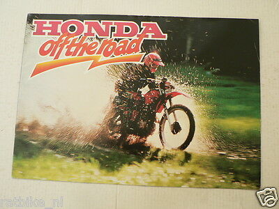 H498A Honda Off The Road Models Vintage Brochure Dutch 12 Pages,enduro Xl500S