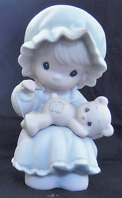 Precious Moments Figurine - YOU ARE A BLESSING TO ME - Girl Sewing Teddy, PM 902