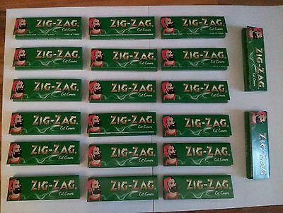 Zigzag Green Regular Cigarette Papers 20 Booklets Of 50 Papers Free !!Delivery!!