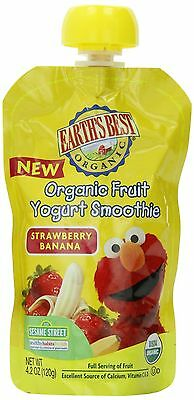Earth's Best Organic Fruit Yogurt Smoothie Strawberry Banana 4.2 Ounce (Pack ...