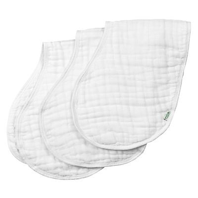 green sprouts Muslin Burp Cloths made from Organic CottonWhite Set White Set