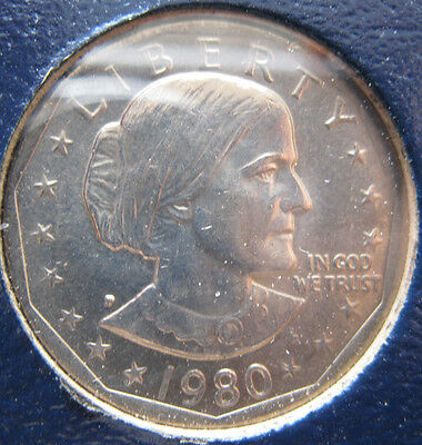 1980 PDS Susan B Anthony Dollar set BU and Proof 4 coins