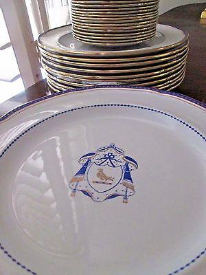 Antique Copeland Spode TWENTY Pieces dinner apppetizers 24kt gold