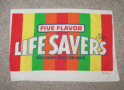 Vintage LIFE SAVERS Doug Wilson LIFESAVERS Pillowcase Standard Size COLORFUL