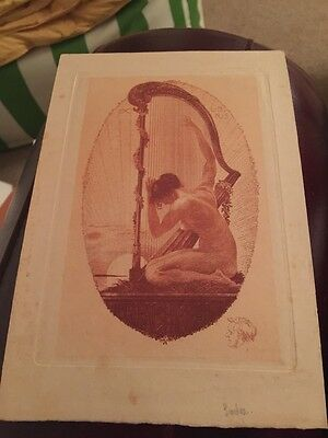 Antique early 1900's artist ALFRED SODER engraving Ex Libris BOOKPLATE