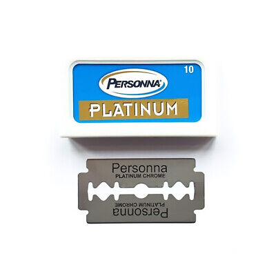 PERSONNA Platinum Chrome Stainless  | Double Edge Razor Blades | Safety DE